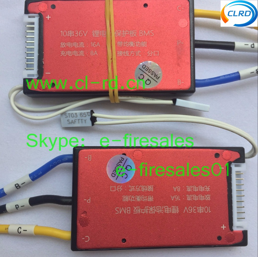 10pcs Lot Balanced 10s Li Ion Battery Bms Management System 36v Wiring Batteries In Series 16a With Temperature Sensor For E Bike Pack Packs From Consumer
