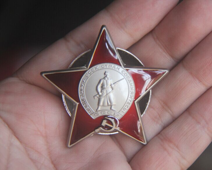 US $11 79 |USSRl Russian Soviet Order of The Red Star Medal mockup Badge  pin reward russia-in Pins & Badges from Home & Garden on Aliexpress com |