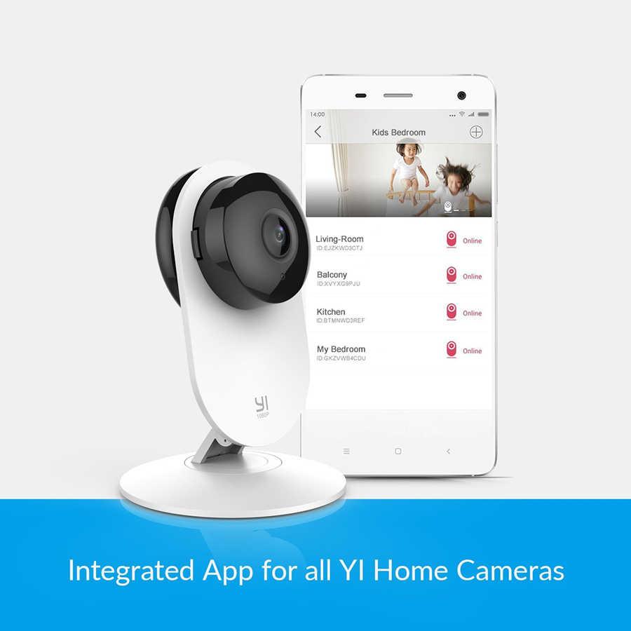 YI 1080 P กล้อง IP Security ระบบกล้องวงจรปิด WIFI CAM YI Cloud กล้องที่มีจำหน่ายนกฮูก (US /EU Edition) สีขาว
