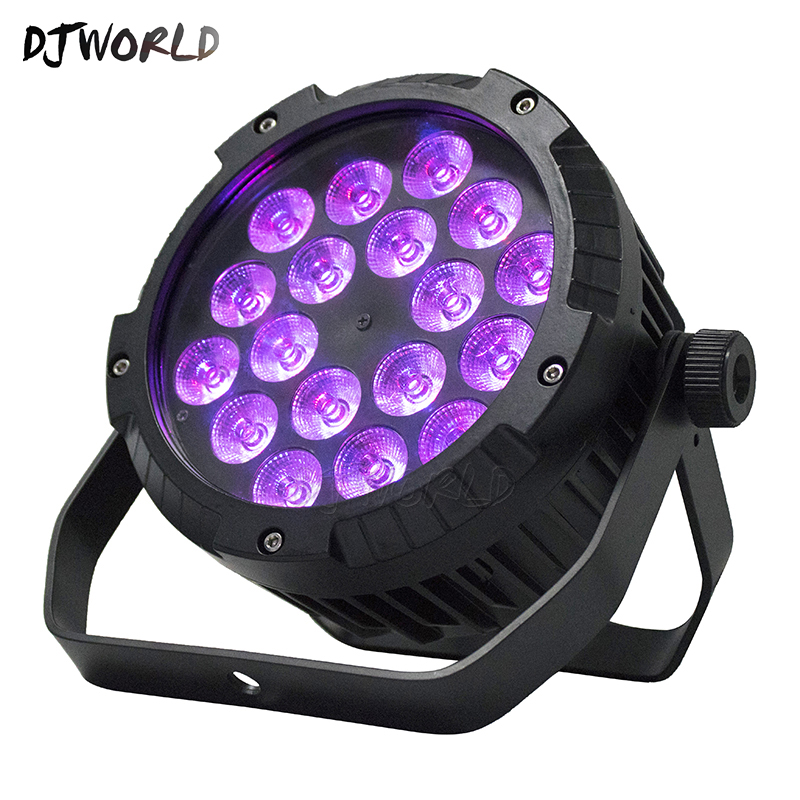4pcs Waterproof LED Flat Par 18x12W RGBW DMX512 Stage Effect Lighting For Outdoor Swimming Pool DJ Disco Party And Dance Floor4pcs Waterproof LED Flat Par 18x12W RGBW DMX512 Stage Effect Lighting For Outdoor Swimming Pool DJ Disco Party And Dance Floor