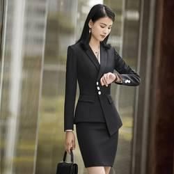 Женская Офисная форма дизайн 2018 новые стили деловые костюмы с юбкой и топы женские Пиджаки Куртки Рабочая Одежда наборы блейзер