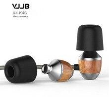 Оригинальный vjjb K4 деревянный бас в ухо наушники Ebony наушники Bass DIY волшебный звук гарнитуры с микрофоном обновления vjjb V1 наушники