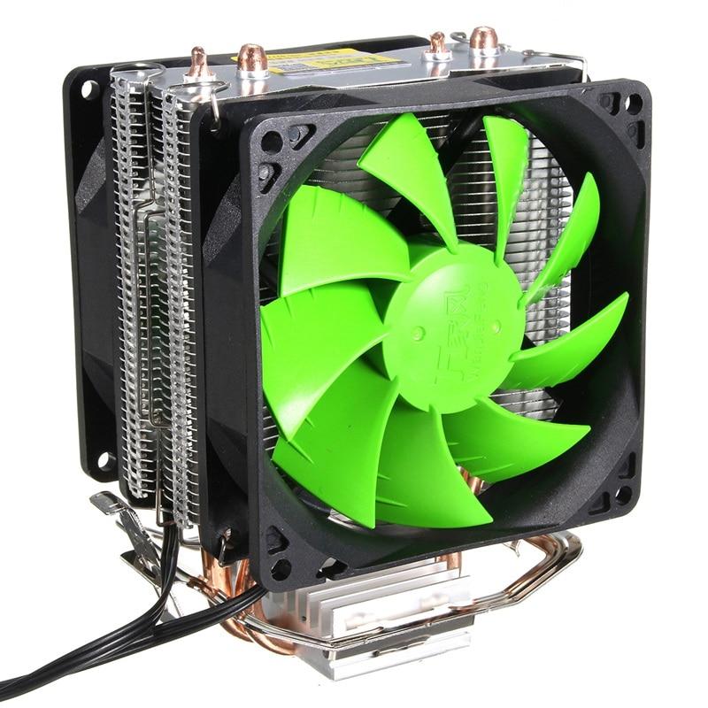 Dual Fan CPU Cooler Cooling Fans Heatpipe Hydraulic Heatsink Radiator Fans for Intel LGA 775/1156/1155 for AMD AM2 AM2+ AM3