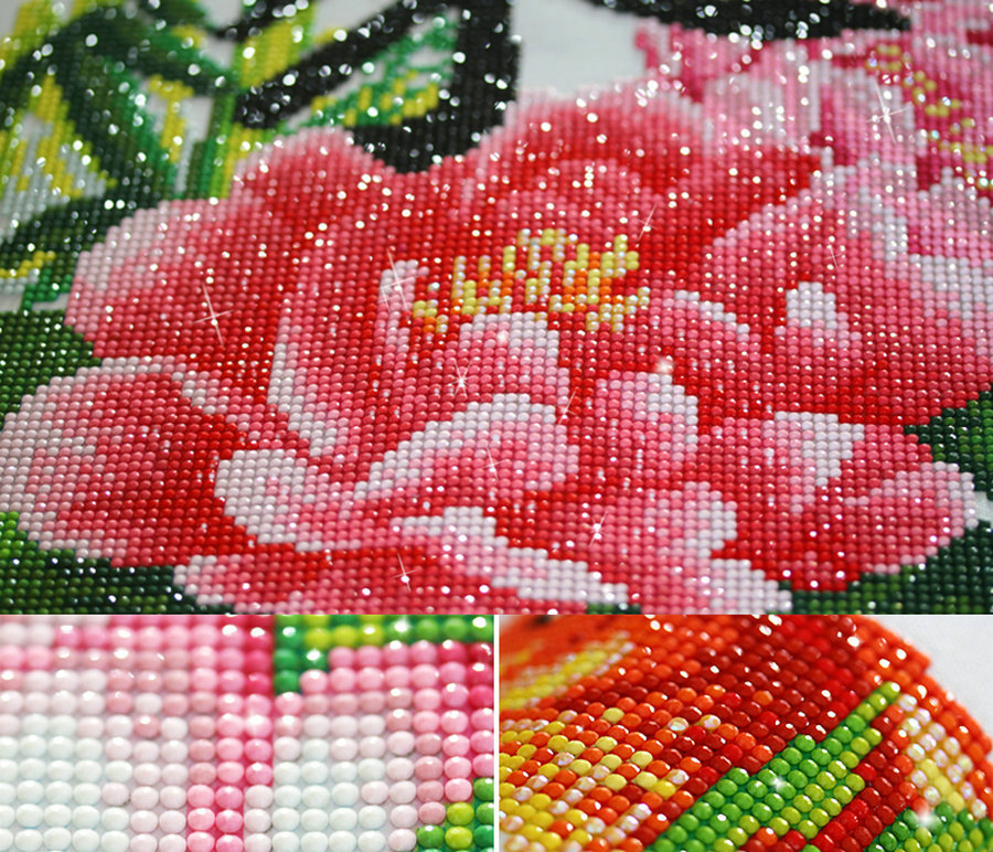 Diamond Painting Flower Cross Stitch Embroidery Mosaic Craft Kit Crafts Home