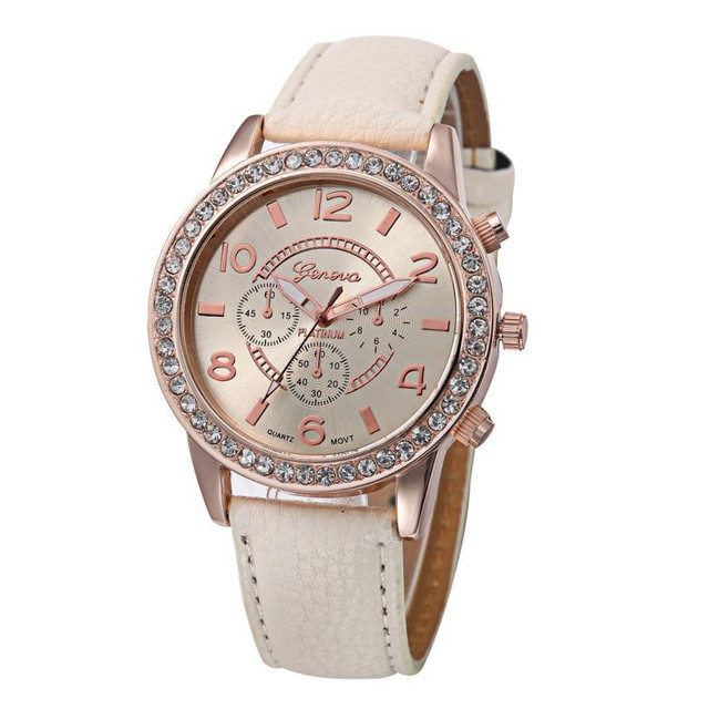 Fashion Women's Watch Geneva Luxury Diamond Analog Leather Quartz Wrist Watches