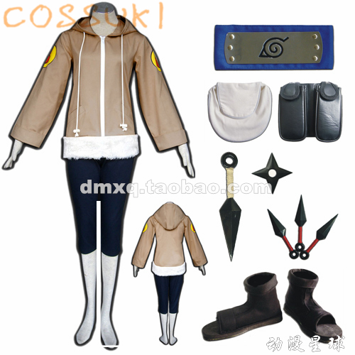 Free Shipping Stock Naruto Childhood Edition Hyuga Hinata Super Cool Full Set Cosplay Costume Suits Perfect