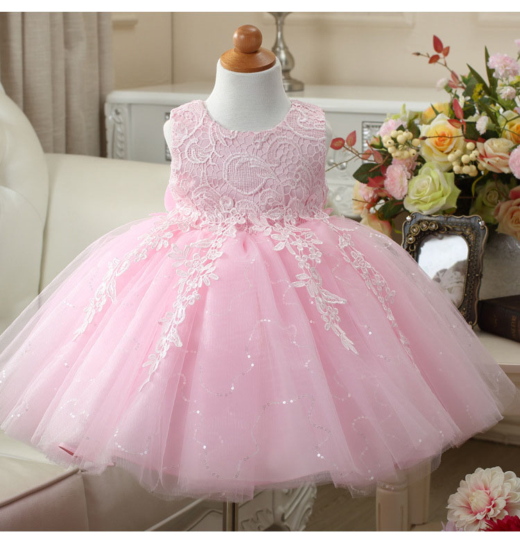 1 -12 Years Kids Frocks Girls girls dresses for party and wedding Baptism Princess Lace Tulle Tutu New Dresses vestidos infantil 6 16 years girls full dress tulle formal tutu long prom princess champagne children dresses frocks for wedding birthday party
