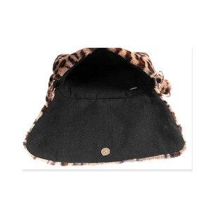 Image 5 - Fur Bag animal print leopard bag women ladies winter warm crossbody bags famous Brand Large Capacity shoudler 2018 new