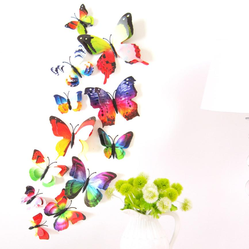 12Pcs/Pack Curtain Home Decor Butterfly Shape Sticker Pin Wonderful35%2.06