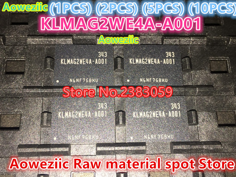 Aoweziic (1 PZ) (2 PZ) (5 PZ) (10 PZ) 100% Nuovo originale font KLMAG2WE4A-A001 KLMAG2WE4A A001 16 GB EMMC chip di telefonia mobile