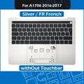 Серебряный Топ чехол + клавиатура с французской раскладкой для MacBook Pro retina 13