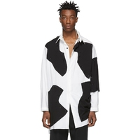 S 6XL! Мода Взлетно посадочной полосы для мужчин одежда оригинальный дизайн лоскутное блок свободные личность асимметричный
