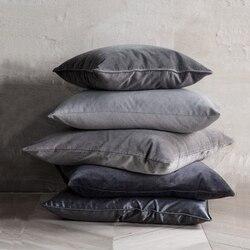 ESSIE HOME Luxury Black Grey White Silver Velvet Cushion Cover Pillow Case Lumber Pillow Case
