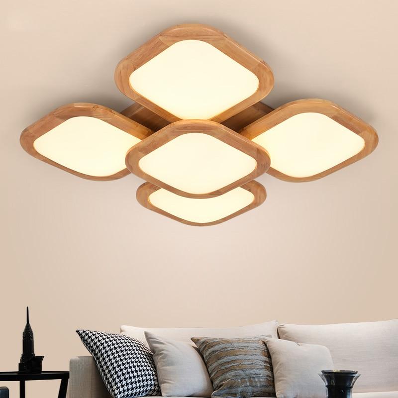 Licht & Beleuchtung Nordic Holz Wohnzimmer Lampen Warmes Schlafzimmer Deckenleuchten Sind Einfache Holz Japanischen Studie Kleines Wohnzimmer Lampen Ya72623 Deckenleuchten