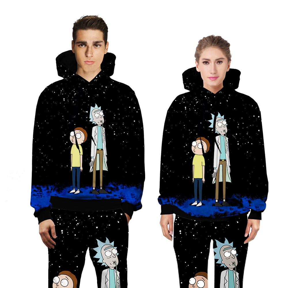 Rick and Morty Galaxy fashion sweats tracksuit men women winter Unisex clother 3d hoody&pants 2 pieces set size S-XXL