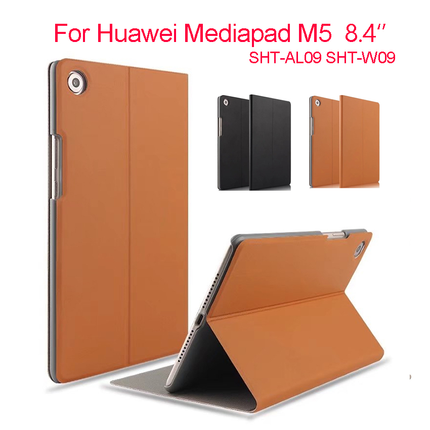 For Huawei M5 8.4'' PU Leather Case Cover Slim Protective Stand Tablet PC Skin For Huawei MediaPad M5 8.4 SHT-AL09 SHT-W09 Shell ultra thin slim stand litchi grain pu leather skin case with keyboard station cover for lenovo ideapad miix 320 10 1 tablet pc
