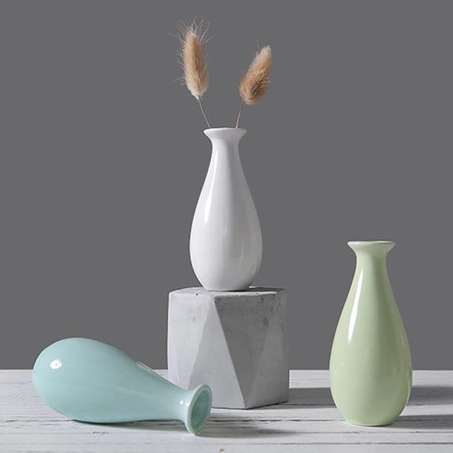 AliExpress & US $2.61 9% OFF|Modern Ceramic Vase Flower Vase for Flowers Wedding Decoration Porcelain Vase Home Desk Decor New Year Gift Drop shipping -in Vases ...