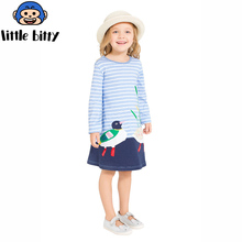 Princess Dress Children Clothing 100 Cotton Casual Tunic Kids Unicorn Party Costume Girls Dresses with Animal