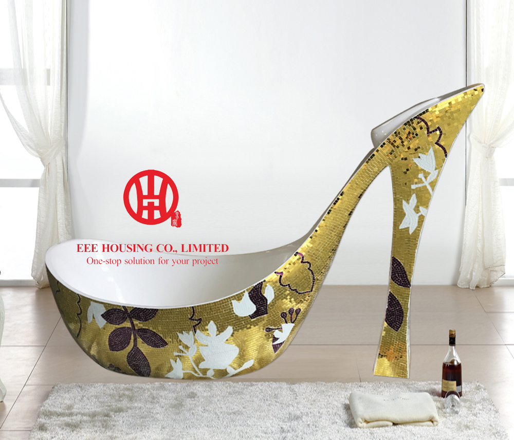 Free Shipping, Modern Design Shoe Shaped Bathtub,High-heeled Shoes Bathtub,Luxury Bathtub Design