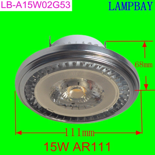 (20 Pack) Free shipping LED AR111 15W G53 with extra driver 85-265V high lumens replace to 150W bulb ES111 QR111 Dimmable