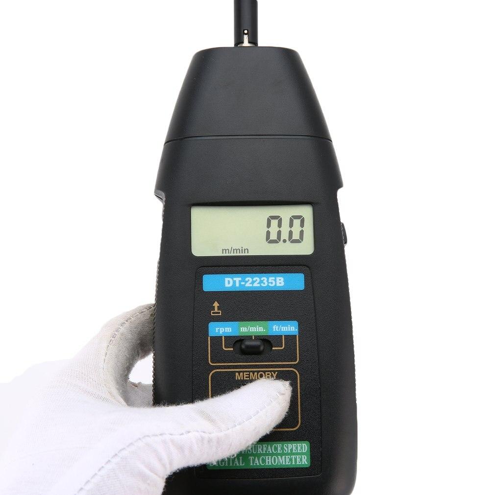 JTW DT-2235B LCD tachymètre numérique Contact RPM Tach testeur compteur moteur jauge de vitesse test portable photoélectrique