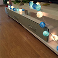 New Arrival 2.8M 20LED Tiffany Color Gorgeous DIY Handmade Cotton Ball Light String For Xmas Wedding Ornament Home Decoration