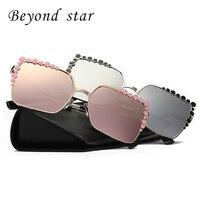 Beyond Star Women Sunglasses 2017 Fashion Luxury Brand Crystal Sunglasses Square Diamond Sun Glasses Oversized Eyewear