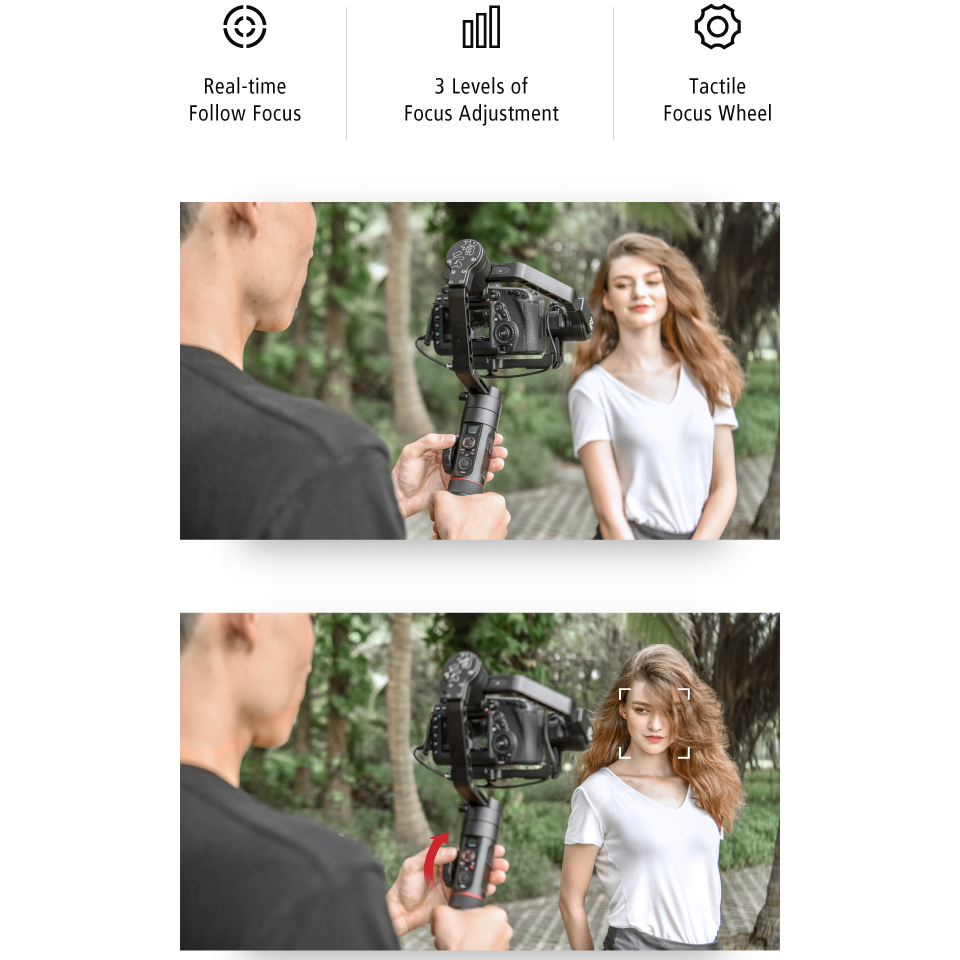 Zhiyun Crane 2 Handheld 3 Axis Stabilizer Gift Servo Follow Focus With Fokus For Mirorrles Dslr Package 1
