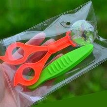1 stücke Outdoor Spielzeug Pflanzen Insekt Biologie Studie Werkzeug Set Kunststoff Scissor Clamp Pinzette Nette Natur Exploration Spielzeug Für Kinder