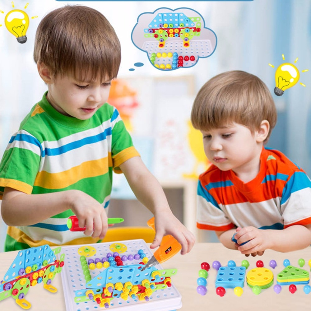 Children Toys Drill Puzzle Educational Toys DIY Screw ...