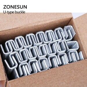 Image 2 - ZONESUN 1 klamra do ręcznego w kształcie litery U 506 503 szczypce do kiełbasy wycinarka ekspres do maszyn, klipsy do supermarketów dokręcania