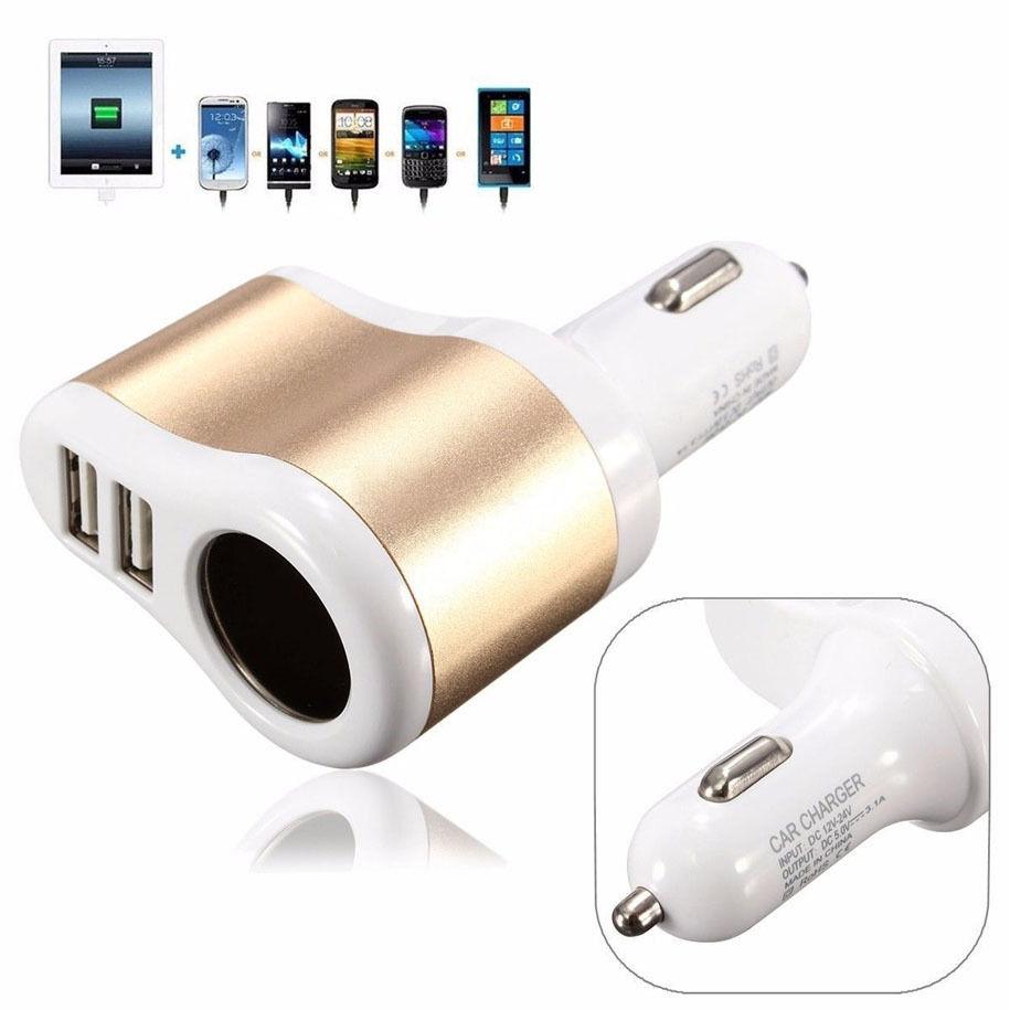 LYBALL 3.1A Cargador de coche USB dual de carga rápida para iPhone - Accesorios y repuestos para celulares - foto 1