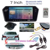 Vehemo 7 Inch Car Rearview Mirror Monitor Auto Parking Vedio Backup Reverse Camera CCD Car Rear
