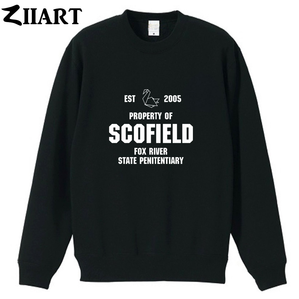 Paper Crane EST 2005 Prison Break property of scofield fox river state penitentiary boys man autumn winter fleece Sweatshirt