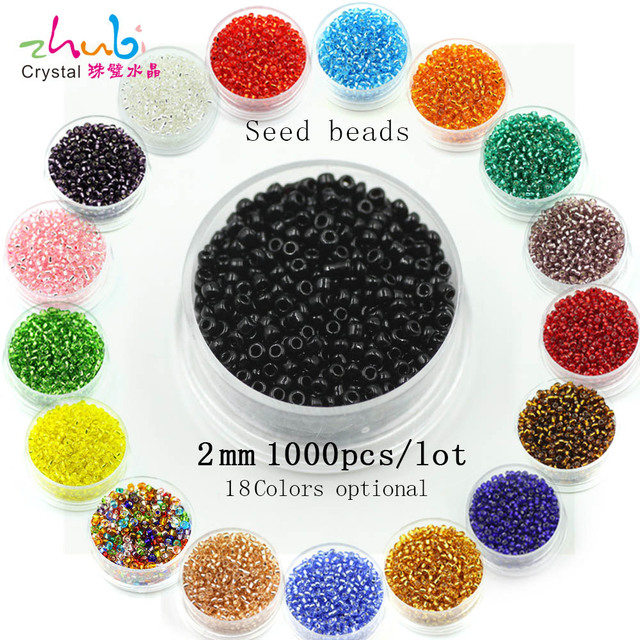 2mm 1000pcs Crystal Glass Spacer Beads Czech Seed Beads For Handmade DIY Faceted Glass Beads cuentas de cristal