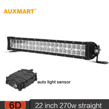 Auxmart 22 inch 280W 6D LED Light Bar Offroad Spot Flood Combo Beam LED Bar 12v 24v For Camper Truck Trailer 4×4 4WD SUV ATV RZV