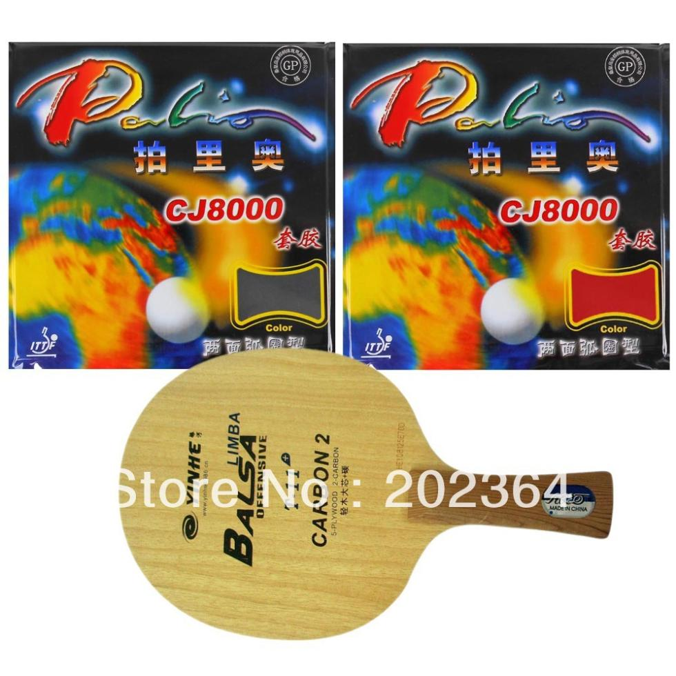 Pro Table Tennis PingPong Combo Racket: Galaxy YINHE T-11+ with 2Pieces Palio CJ8000 (2-Side Loop) Long Shakehand FL avalox tb525 tb 525 tb 525 shakehand table tennis pingpong blade