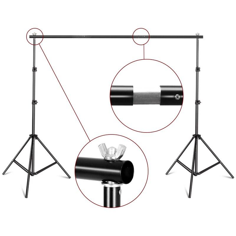 Décors Cadre Fond Stand multi port usb Photographie Fond de Studio Titulaire Caméra et accessoires photo + sac de transport - 2