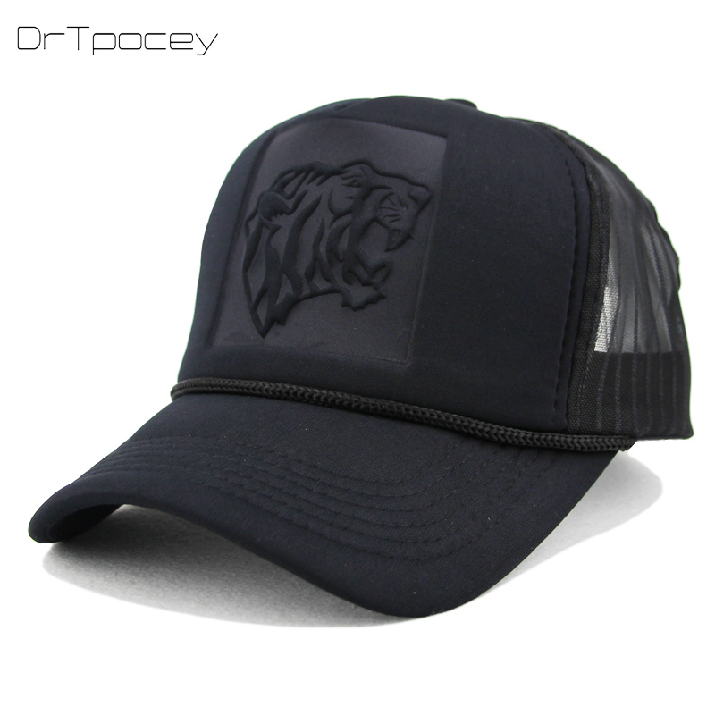 Unisex Summer Mesh Snapback Hats Hip Hop Black leopard Print Curved Baseball Caps For Women Men casquette Trucker Cap wholesale [flb] wholesale baseball caps trucker summer female snapback hats for women men mesh cap fitted sun hat casquette gorras