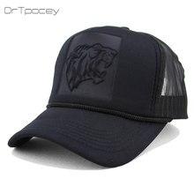 Unisex verano malla Snapback sombreros Hip Hop leopardo negro curvado gorras  de béisbol para las mujeres 3ac8710a7da