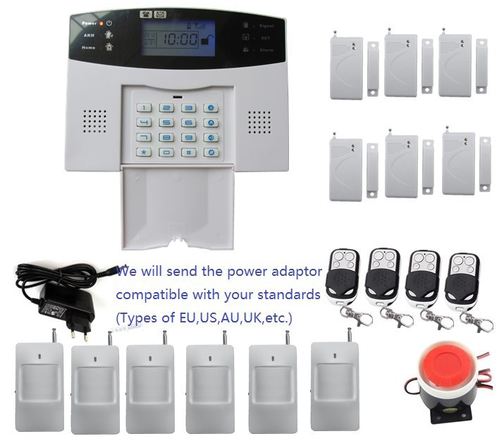 DIY SMS GSM alarm system with English/Chinese/Czech/Russian/Spanish//Italian /German/French/Polish/Slovak/Portuguese for option
