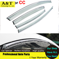 car styling Window Visors For VW CC 2013 2014 Sun Rain Shield Stickers Covers Car - Styling Awnings Shelters