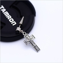 Jesus Steel Cross Earring (1 piece)