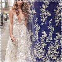 High Quality 15yard/lot Net Lace French tulle mesh Lace Fabric For bride wedding dress Free Shipping