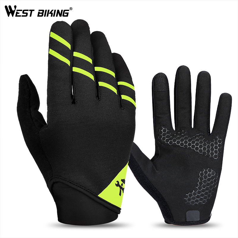WEST BIKING Bike Gloves Full Finger Tool Multifunctional Bicycle Glove Anti-skid Tool Gloves Touch Screen Outdoor Cycling Gloves