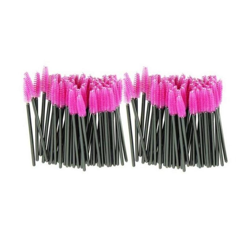 1000pcs/lot Make Up Brush Synthetic Fiber Disposable Eyelash Brush Mascara Applicator Pink Mascara Brush And Rose Red Brush