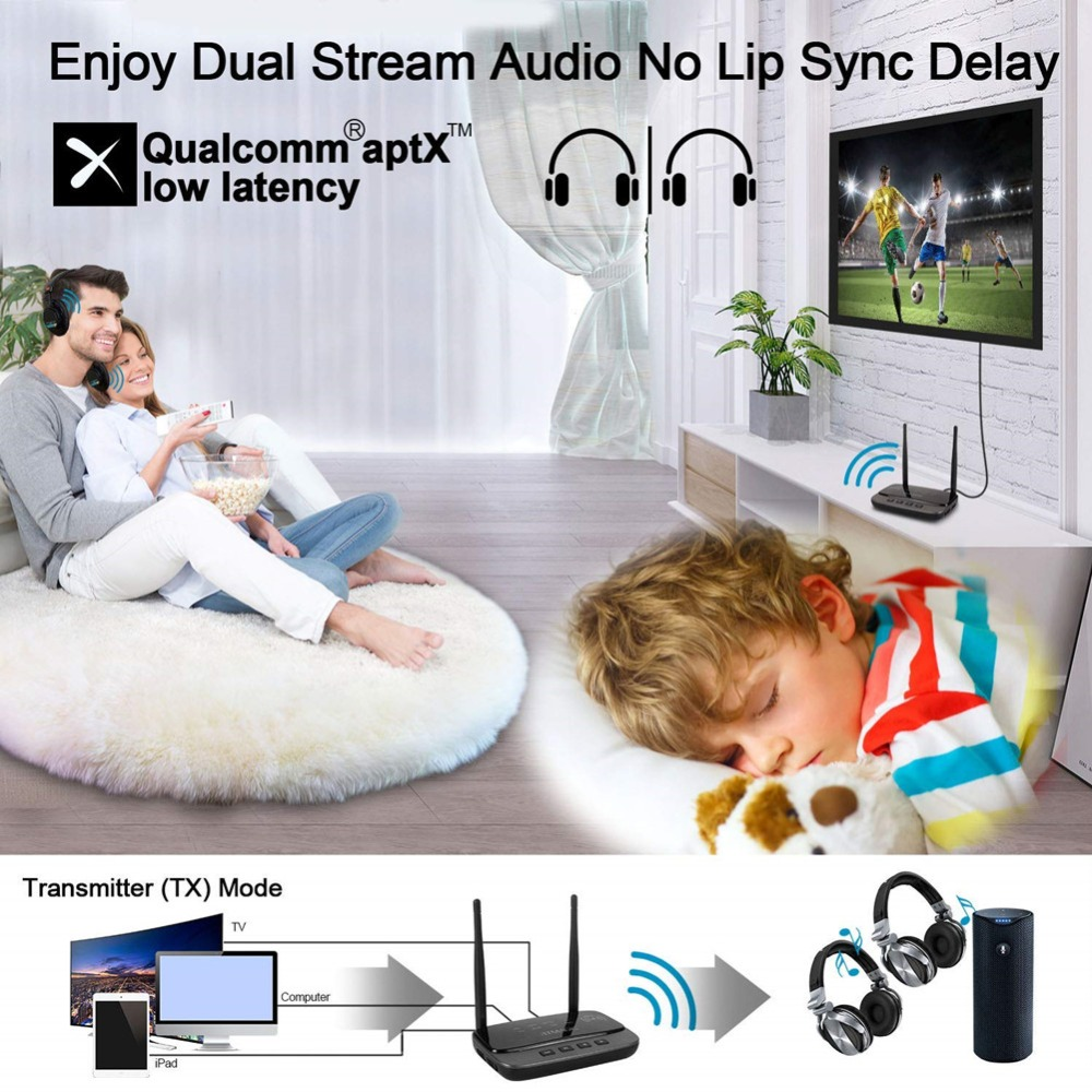 Image 3 - NFC and 262ft/80m Long Range Bluetooth 5.0 Transmitter Receiver 3in1 Audio Adapter Low Latency aptX HD Optical RCA AUX 3.5mm TV-in Wireless Adapter from Consumer Electronics