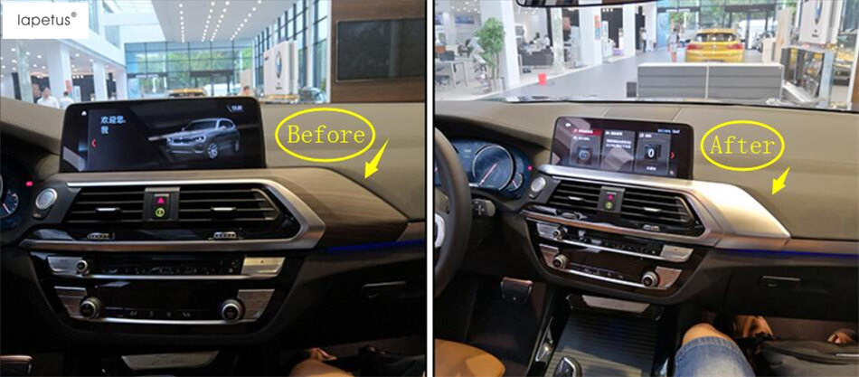 Lapetus Accessories For BMW X3 G01 2018 2019 Central Control Instrument Panel Decoration Molding Cover Kit Trim 1 Piece ABS in Interior Mouldings from Automobiles Motorcycles