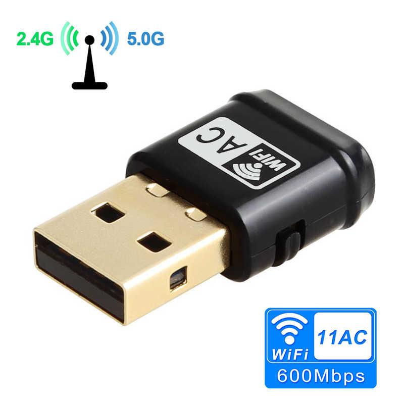 محول لاسلكي واي فاي AC600Mbps USB واي فاي بطاقة الشبكة RTL8811AU 2.4G 5G ثنائي النطاق 802.11ac/a/b/g/n واي فاي محول انخفاض الشحن
