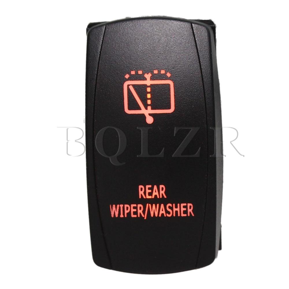 BQLZR 5pin DC12-24V Car Black ON-OFF Rocker Switch with Rear Wiper/Washer Orange Light bqlzr black